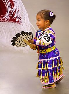 Young Native American Child Jingle Dress Dancer