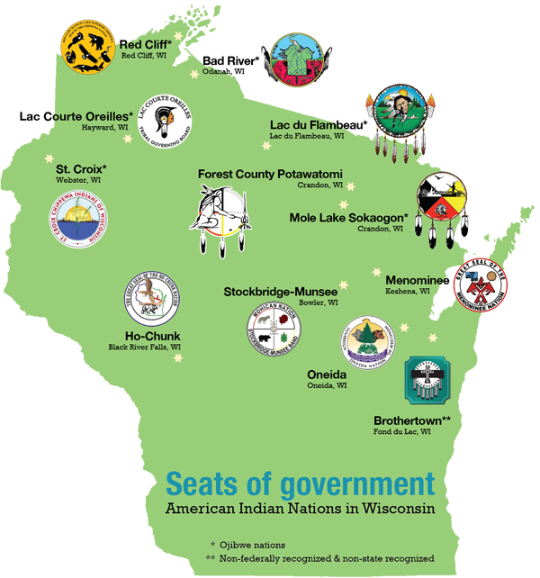 Tribal Map Of America.Tribal Nations Of Wisconsin Wisconsin Department Of Public Instruction