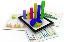 charts and graphs stock image