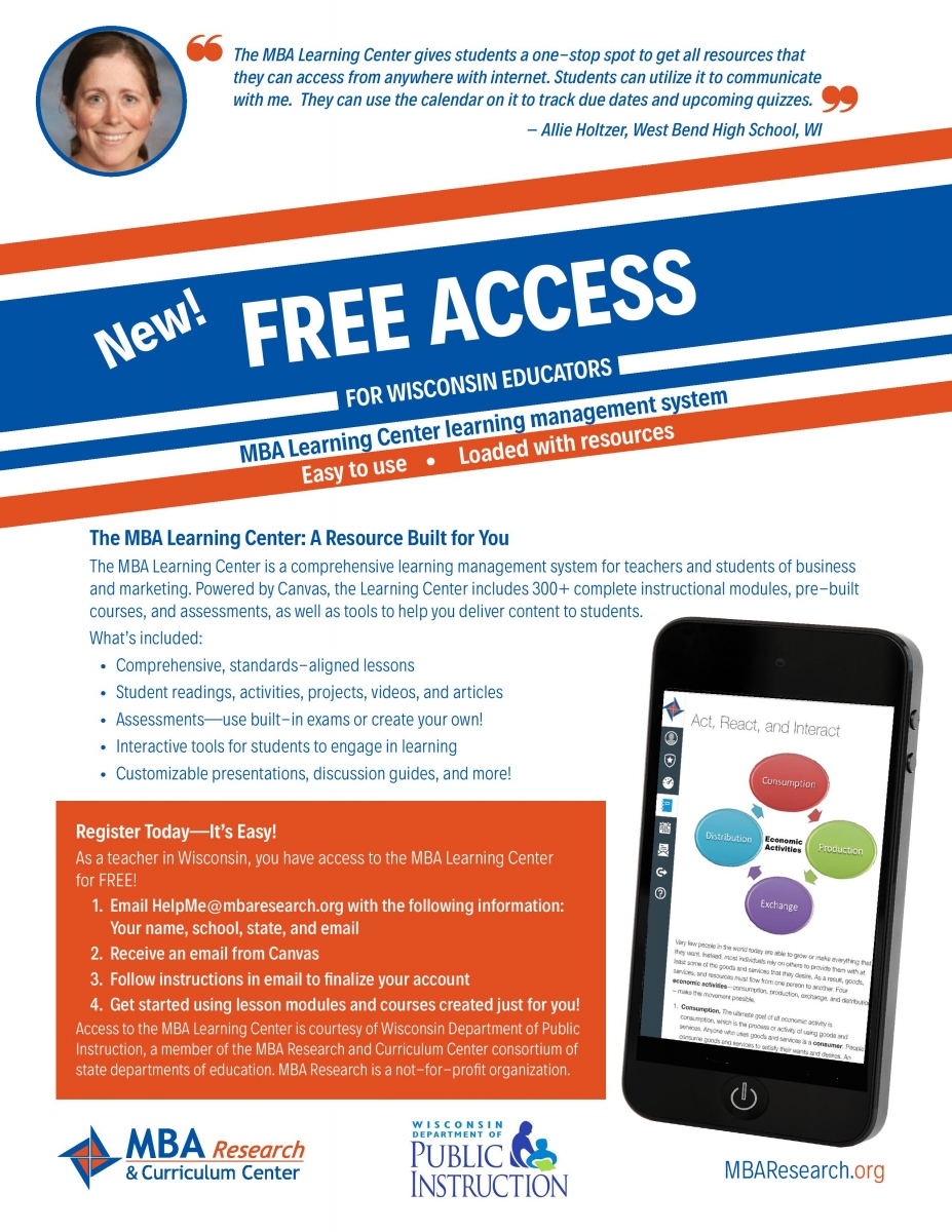 wisconsin gov access Free WISELearn Access to MBA Learning Center for All Wisconsin ...