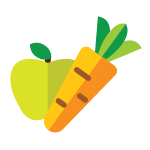 Apple and Carrot icon