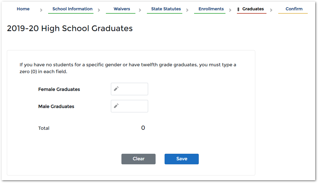 image of the pi-1207 application graduates screen