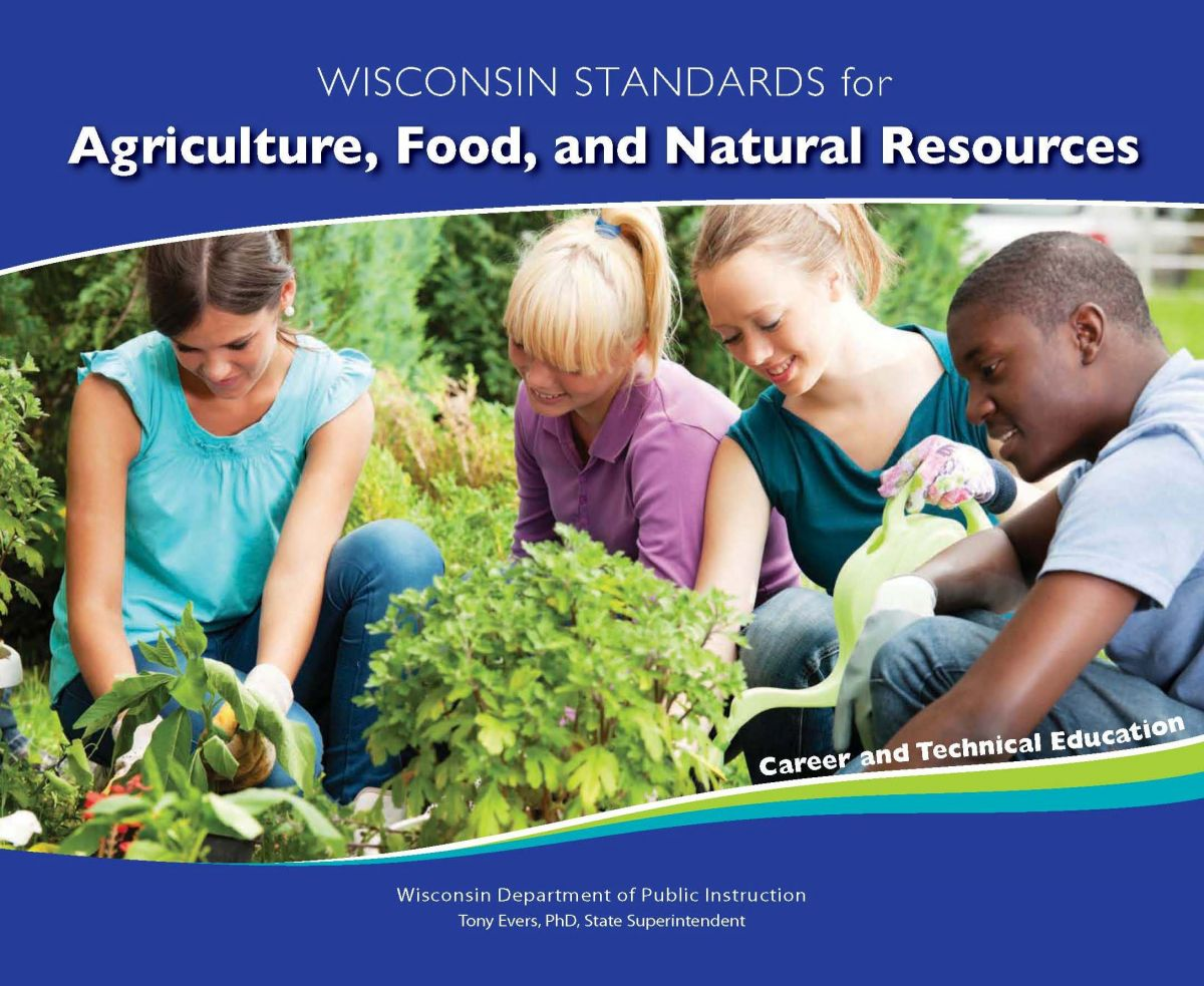 Wisconsin standards for agriculture, food, and natural resources book cover