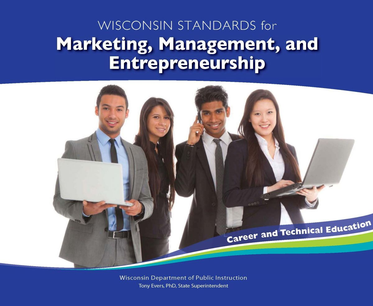 marketing, management, and entrepreneurship standards cover