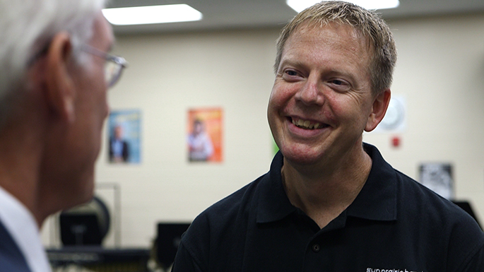 Chris Gleason, a band director and instrumental music teacher at Patrick Marsh Middle School in the Sun Prairie Area School District