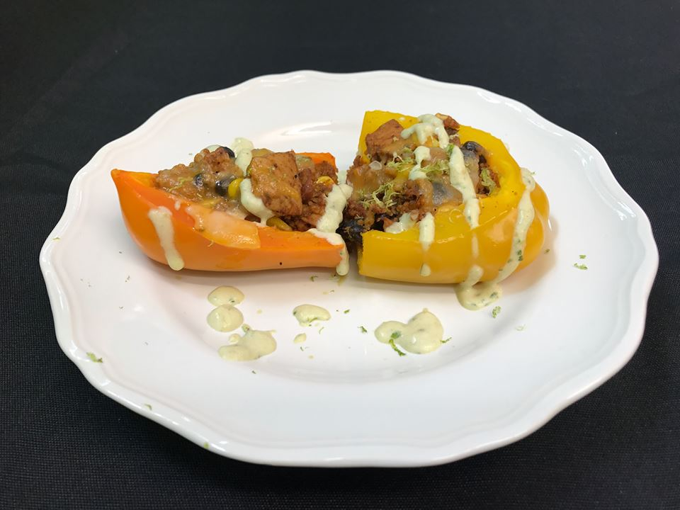 Spicy stuffed peppers, 2017 Whipping Up Wellness winner