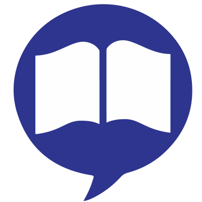 Book in talk bubble icon