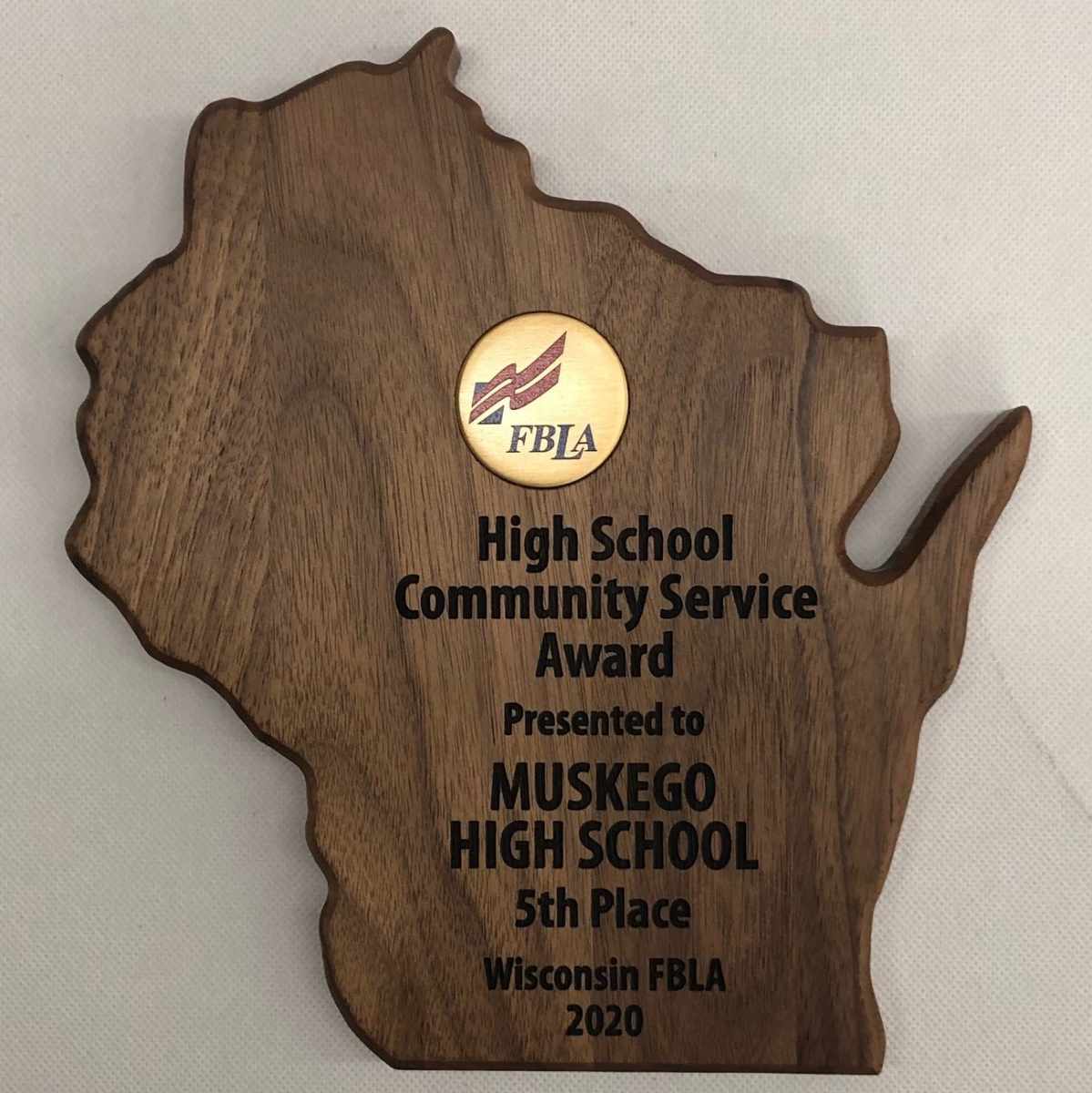 Community Service Award - 5th Place Muskego
