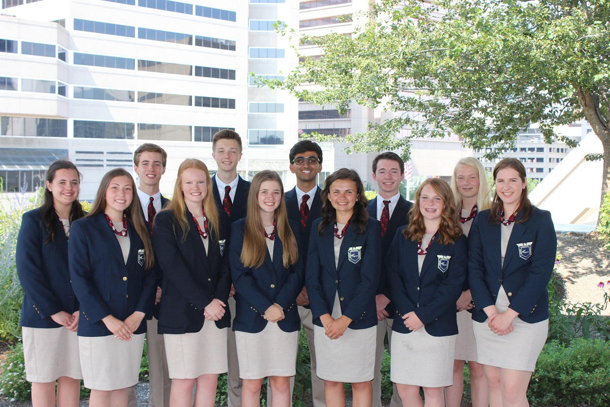 2018 State Officer Team Group Photo