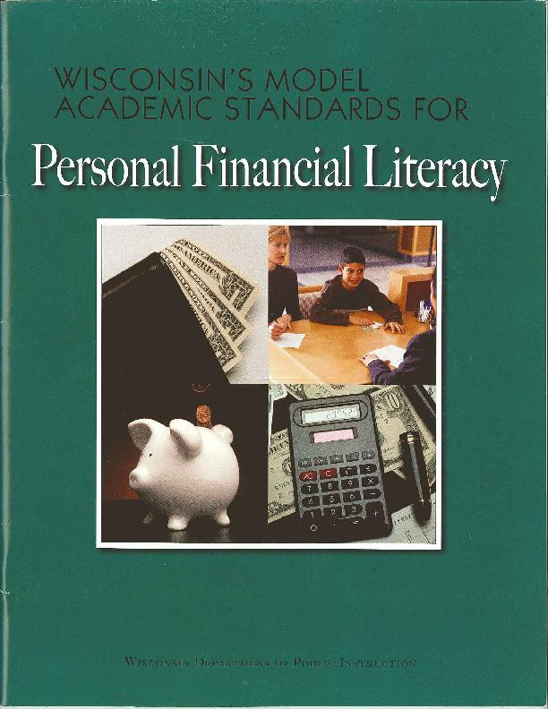 green cover for wisconsin model standards for personal financial literacy