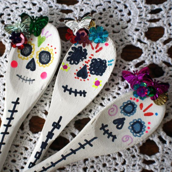 death mask spoons crafts
