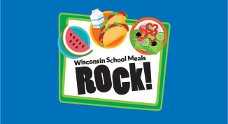 Button to take the user to The Wisconsin School Meals Rock web pages