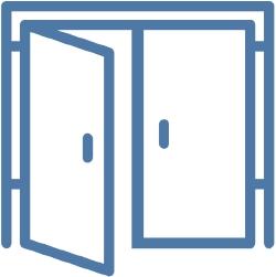 Open doors icon