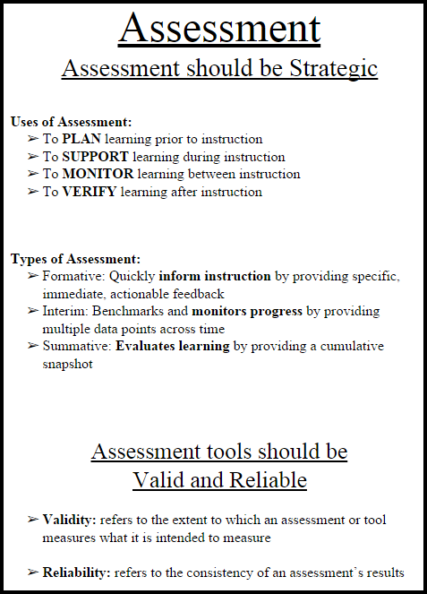 Note-Taking Tool: Assessment