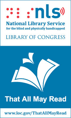 "NLS logo ""That All May Read"" https://www.loc.gov/programs/national-library-service-for-the-blind-and-physically-handicapped/about-this-service/"