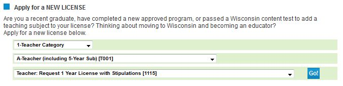 Application Directions for One-Year License with Stipulations ...