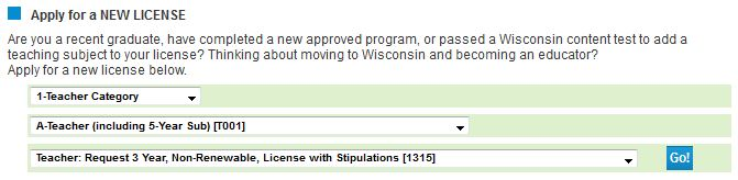 Application Directions for Three-Year License with Stipulations ...