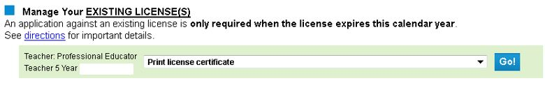 How do I print my license certificate