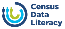 pla census data literacy logo with text