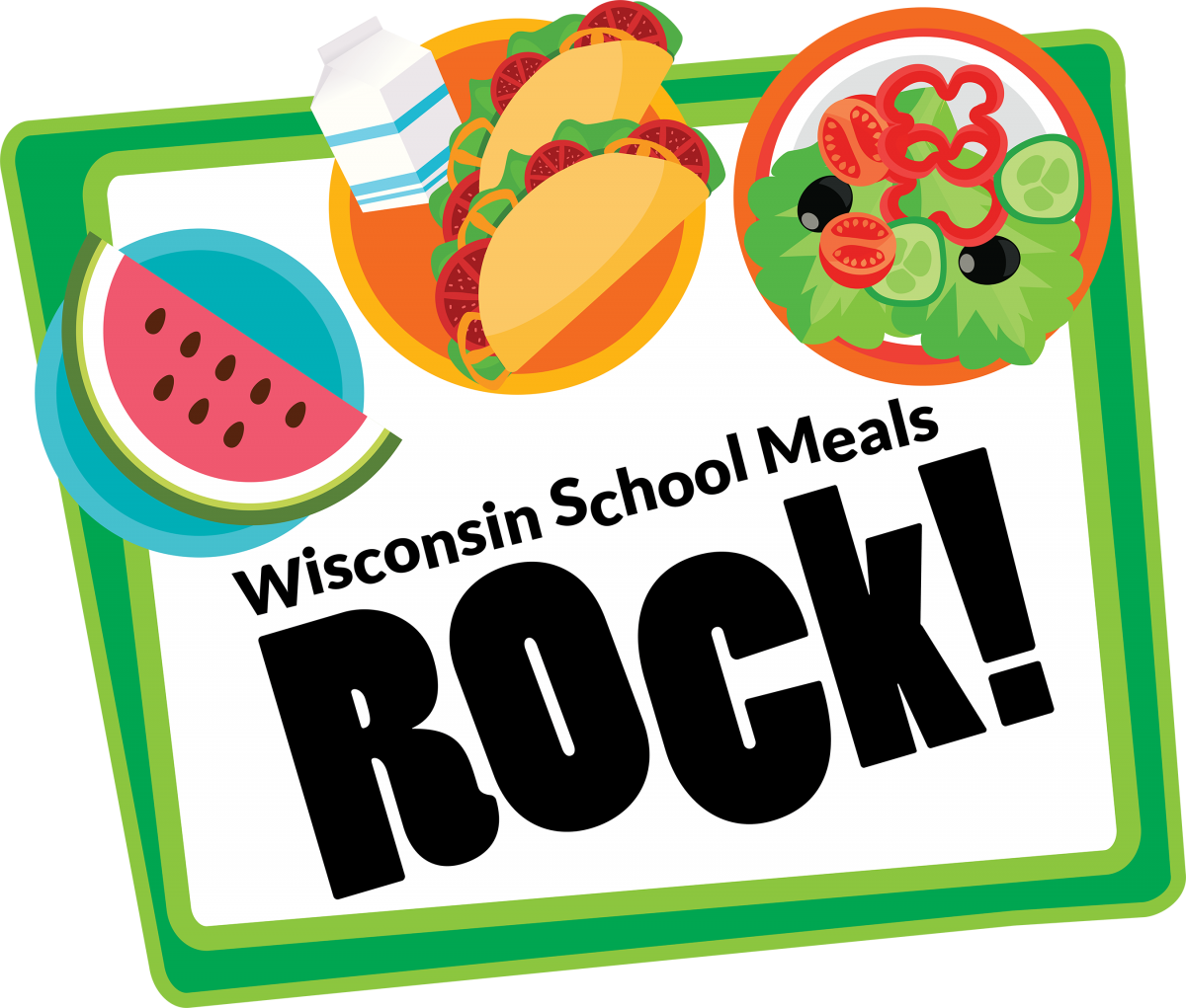 Wisconsin School Meals Rock Logo