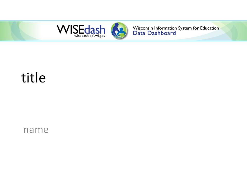 WISEdash powerpoint