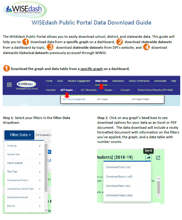 WISEdash Download Guide (4 page PDF)