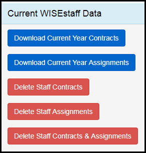 Manage staff data menu screen shot