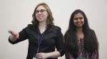 DPI Customer Service staff Carrie Boe and Sheethal Srinivas lead a presentation