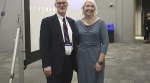 DPI Assistant State Superintendent Kurt Kiefer enjoys time with keynote speaker Maureen Wentworth.
