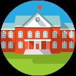 graphic of generic university