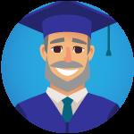 non traditional graduate man