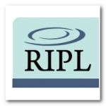 RIPL logo with rippled water image